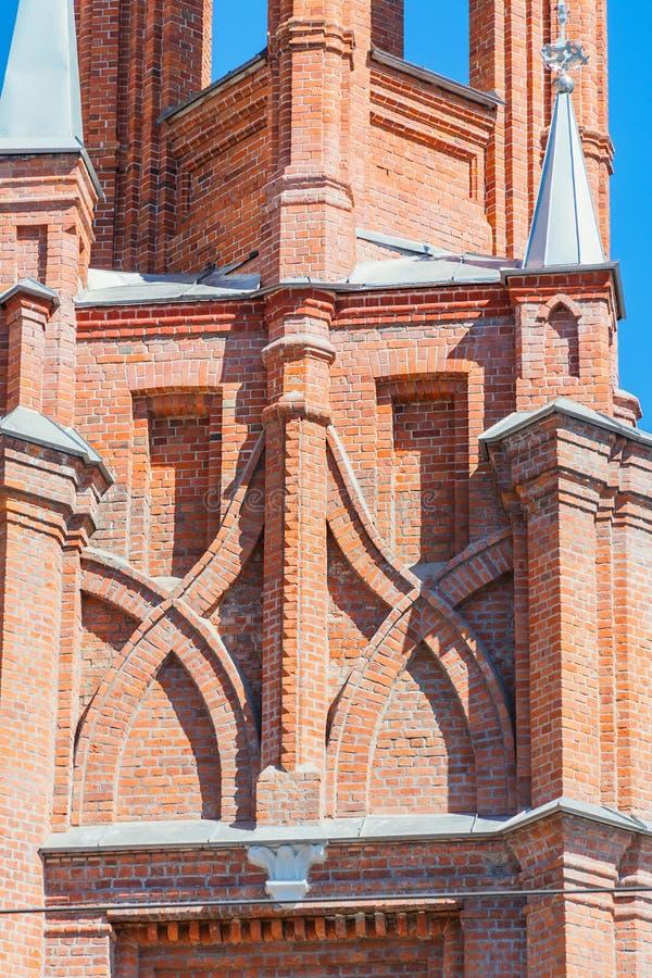 Hace fragmentos de la parroquia del corazón sagrado de Jesús de Roman Catholic Church en la ciudad del Samara fotografía de archivo libre de regalías