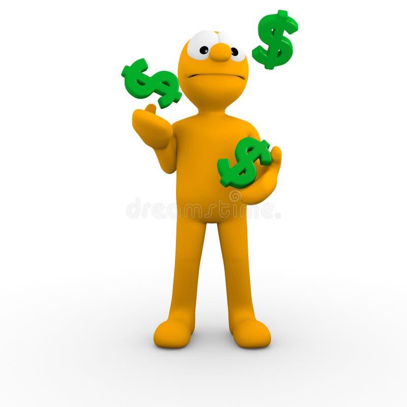 Hacer juegos malabares sus finanzas ilustración del vector