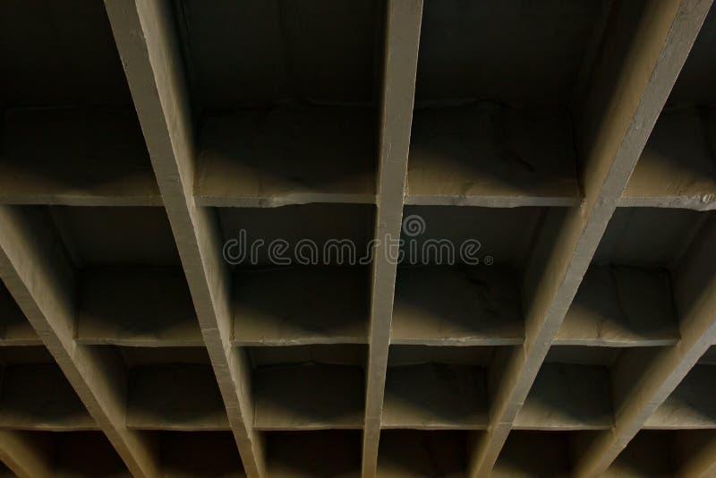 Haces concretos del puente Textura geométrica foto de archivo