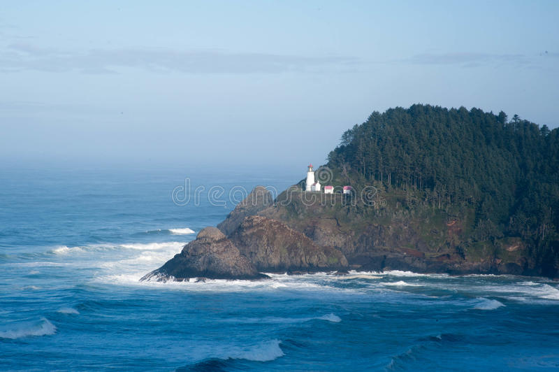 Haceta Head Lighthouse royalty free stock photography