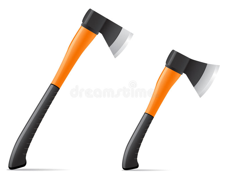 Hacha de la herramienta con el ejemplo plástico del vector de la manija libre illustration
