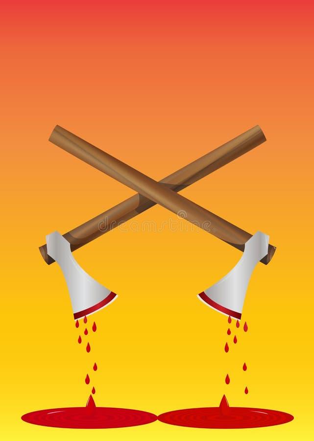 Hacha sangrienta, ilustración libre illustration
