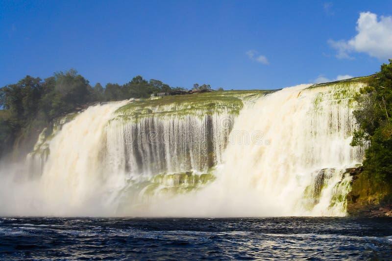 Hacha vattenfall - Venezuela arkivbild