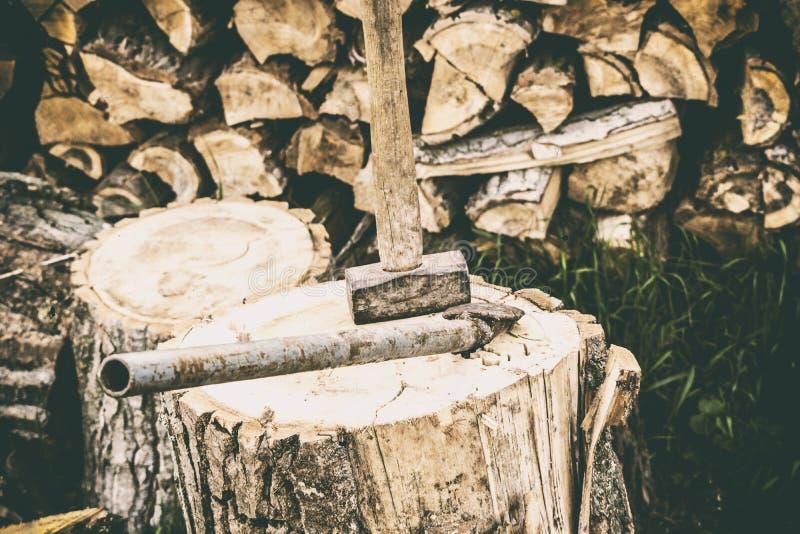 Hachage du bois photo libre de droits