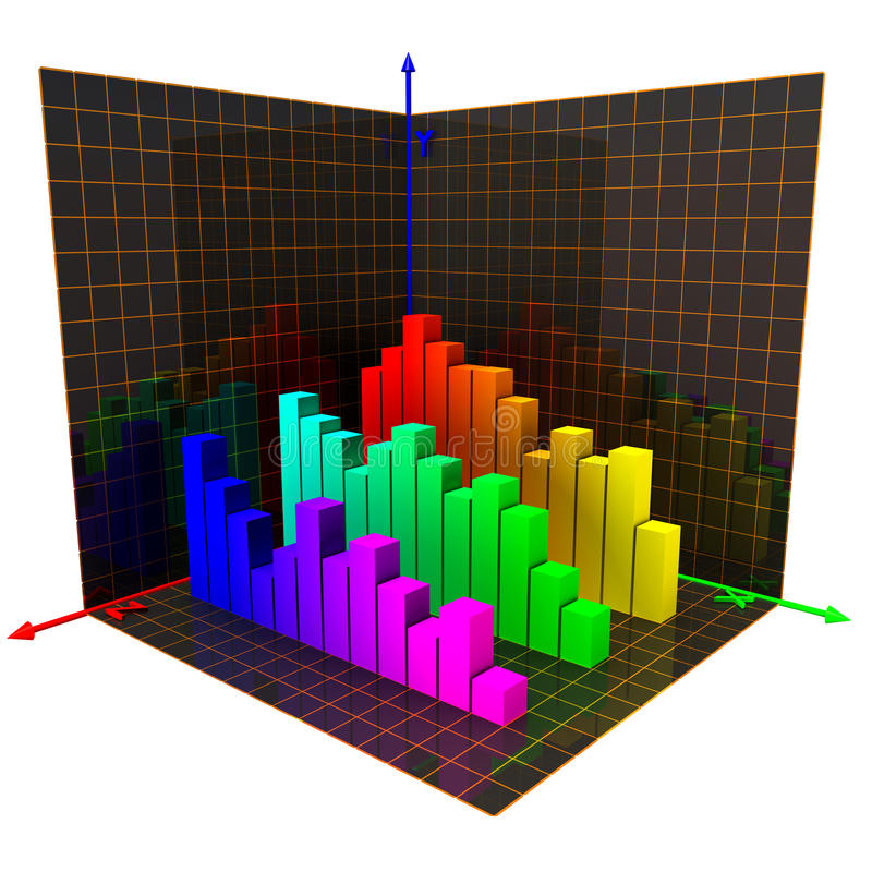 Hachas de los coordenadas ilustración del vector