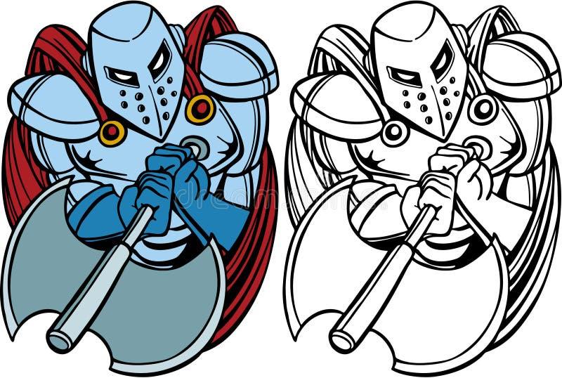 Hache de chevalier illustration libre de droits