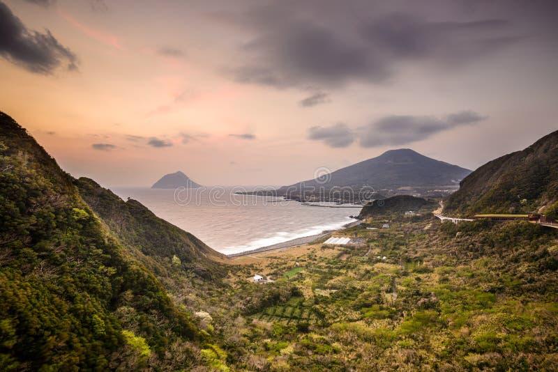 Hachijojima kust- horisont fotografering för bildbyråer