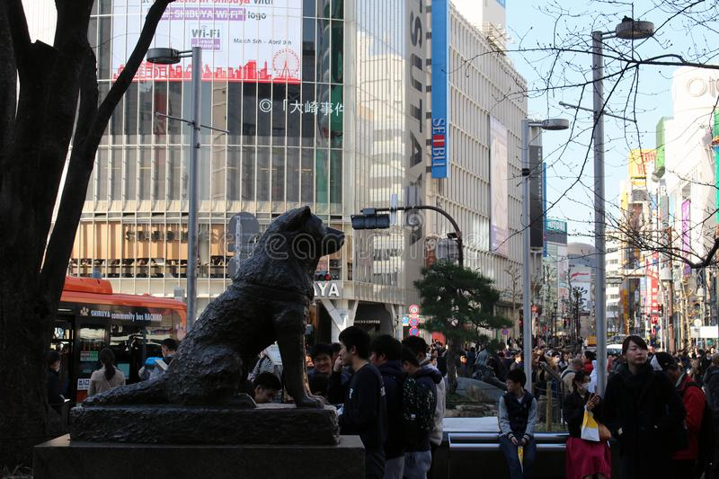 Hachiko Famous Japan Dog Statue As Landmark At Shibuya ...