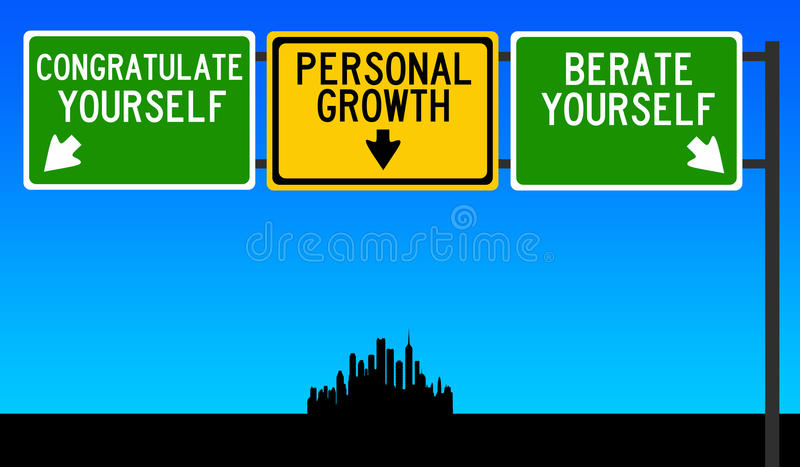 Hacia crecimiento personal ilustración del vector