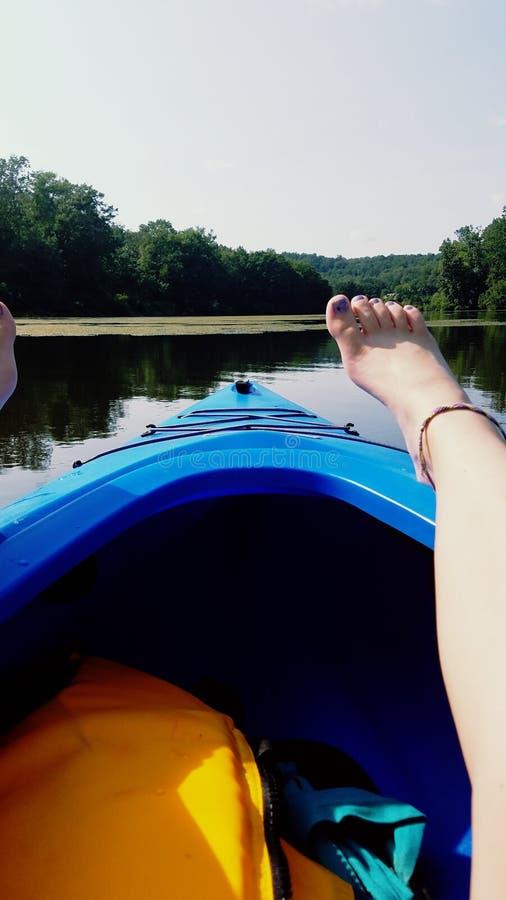 Hacia fuera en el lago fotos de archivo