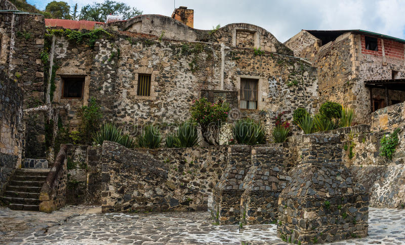Hacienda Σάντα Μαρία Regla, Hidalgo Μεξικό στοκ φωτογραφία
