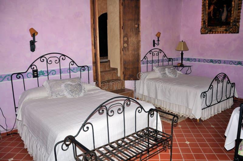Hacienda bedroom stock image