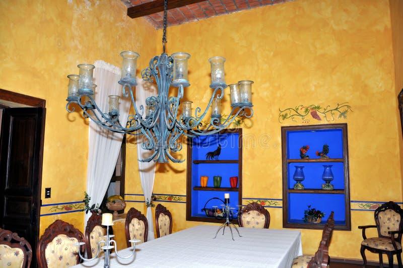 Hacienda dining room stock photography