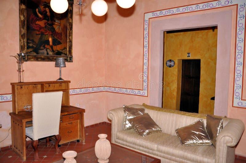 Hacienda living room royalty free stock image