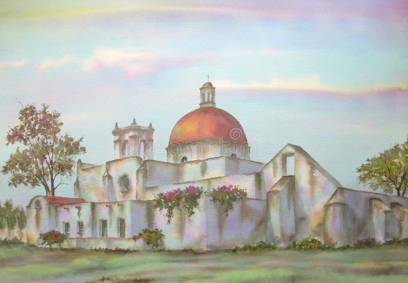 Hacienda mexicana en Puebla libre illustration