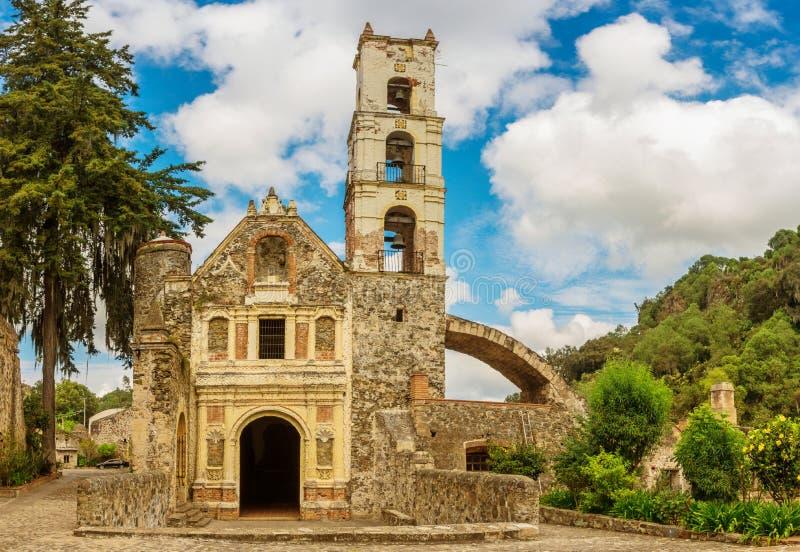 Hacienda Santa Maria Regla, hidalgo mexico fotografia stock libera da diritti
