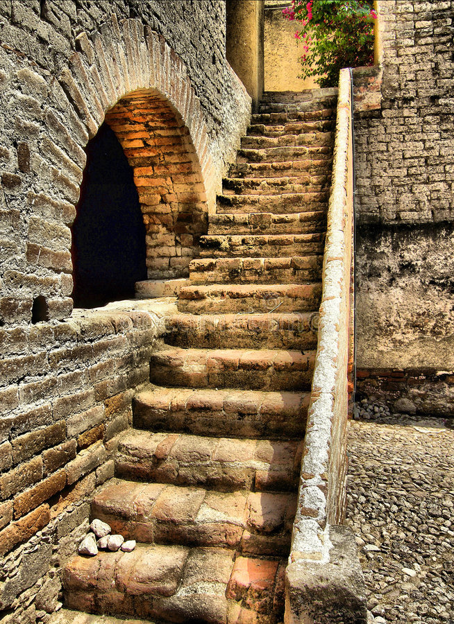 hacienda Stair stock photography