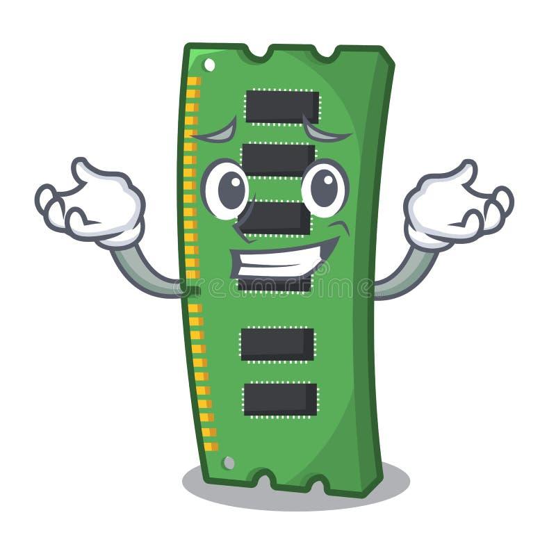 Haciendo muecas la tarjeta de la memoria ram de la forma de la mascota libre illustration