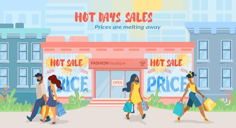 Haciendo publicidad del cartel los precios están derritiendo lejos plano libre illustration