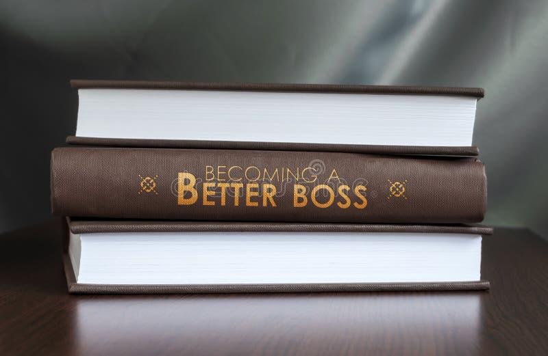 Haciendo un mejor jefe. Concepto del libro. imágenes de archivo libres de regalías
