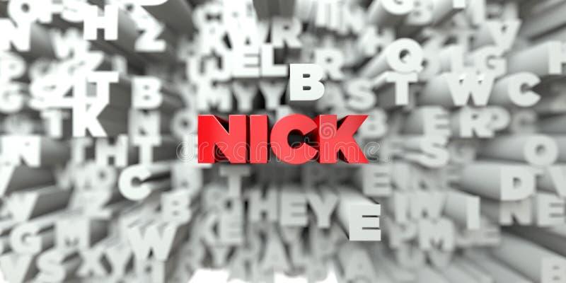 HACK - Röd text på typografibakgrund - 3D framförde fri materielbild för royalty royaltyfri illustrationer