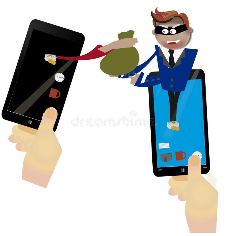 Hacka och phishing stock illustrationer