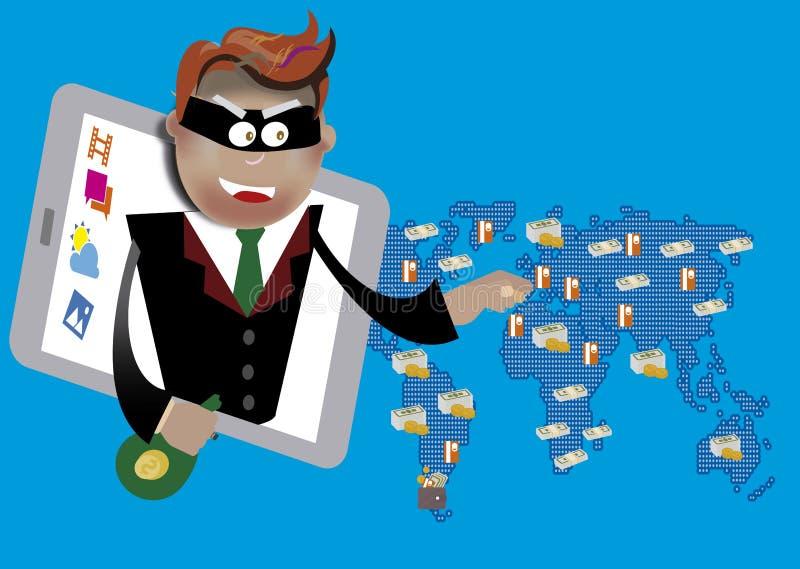 Hacka och phishing vektor illustrationer