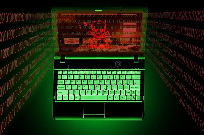 Hackad dator vektor illustrationer