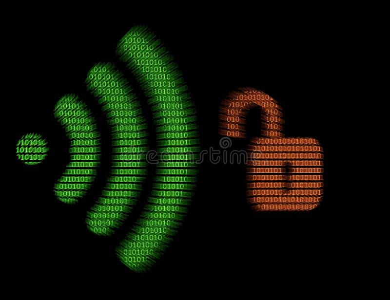 Hackad radio - WiFi - nyckel- ominstallationsattack fotografering för bildbyråer