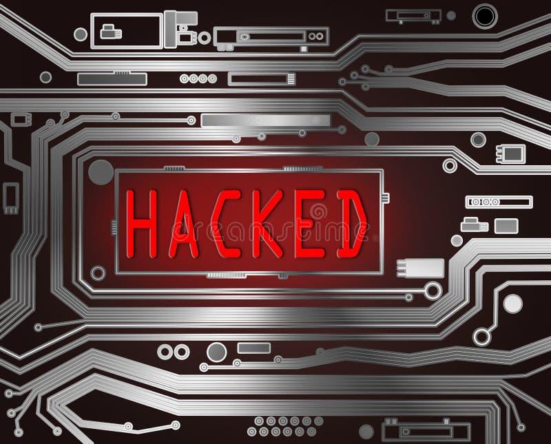 Hackat begrepp. stock illustrationer