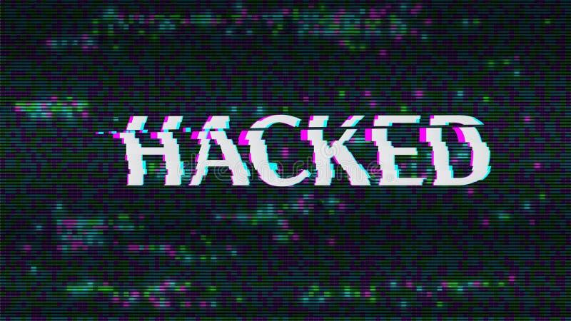 hackat Glitched digital abstrakt bakgrund vektor illustrationer