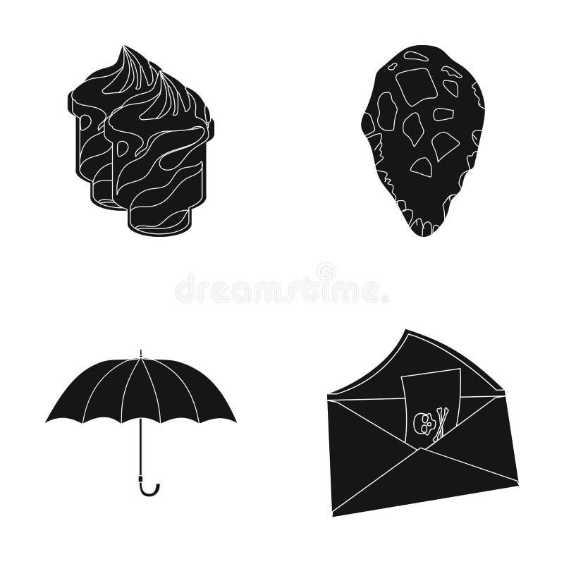 Hackat, lopp och eller rengöringsduksymbol i svart stil historia datorsymboler i uppsättningsamling stock illustrationer
