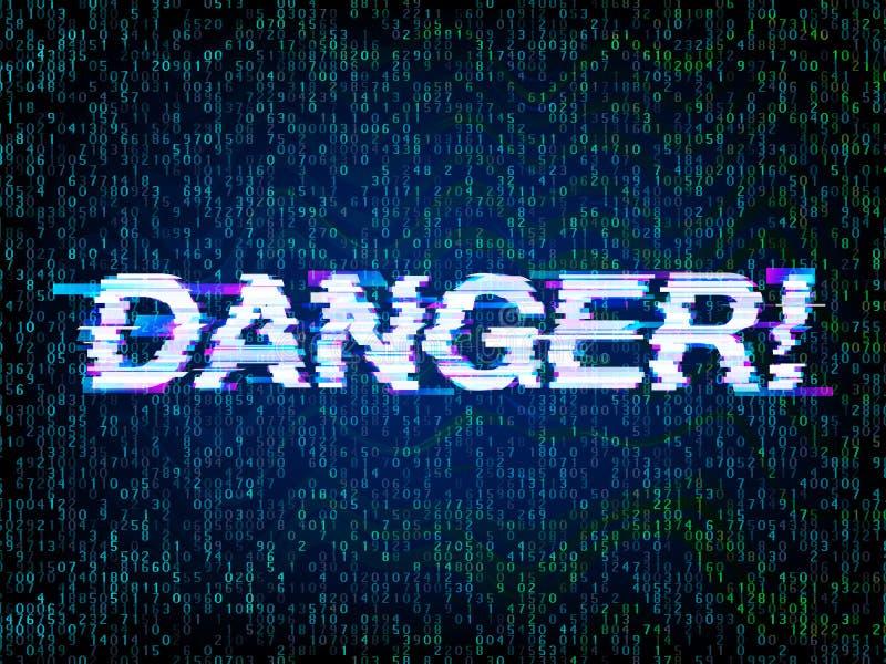 Hackat, programmera och kodifiera fel för dator royaltyfri illustrationer