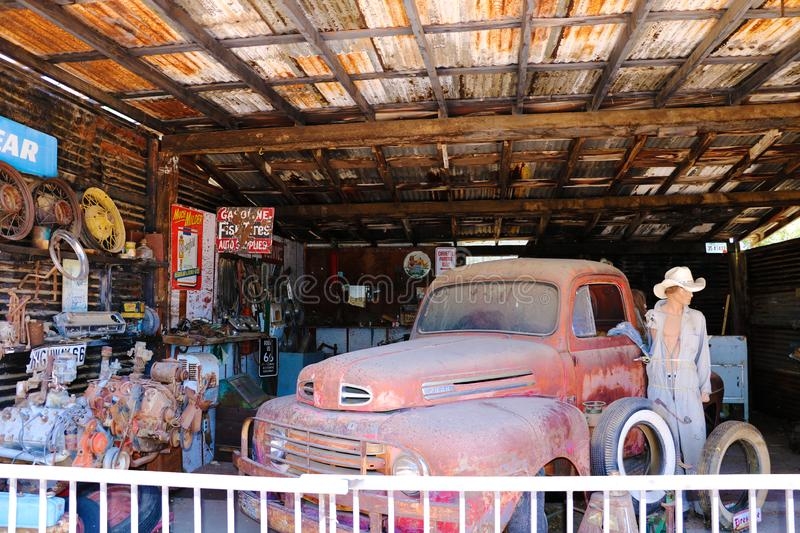 Hackberry General Store is a popular museum of old Route 66.  royalty free stock photo