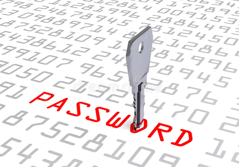 Hacked Computer Key Password vector illustration