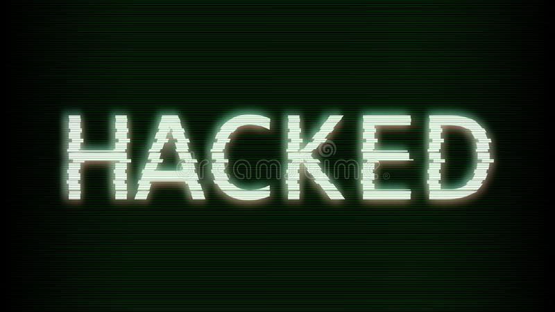 Hacked. Glitched. Abstract Digital Background. Computer screen error templates. Vector Illustration vector illustration