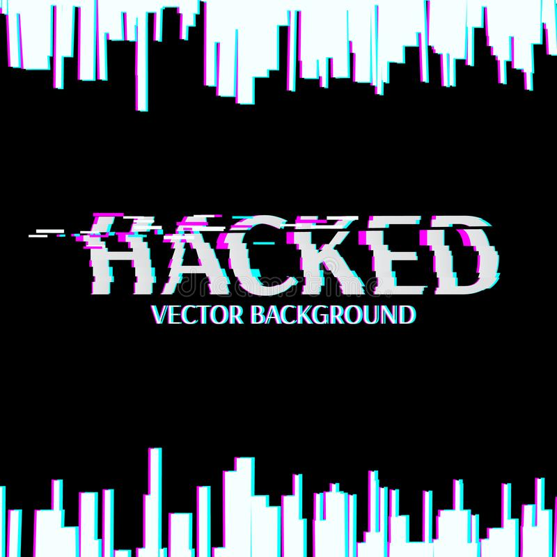 hacked Glitched Abstracte digitale achtergrond royalty-vrije illustratie