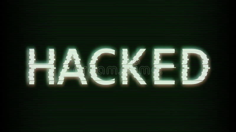 hacked Glitched Abstracte digitale achtergrond De foutenmalplaatjes van het computerscherm Vector illustratie vector illustratie