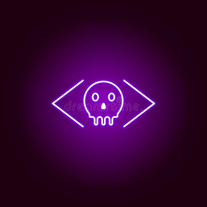 Hacker, ícone malicioso no estilo de néon Pode ser usado para a Web, logotipo, app m?vel, UI, UX ilustração royalty free