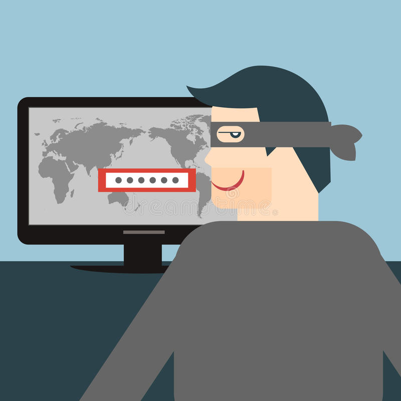 Hacker ilustração stock