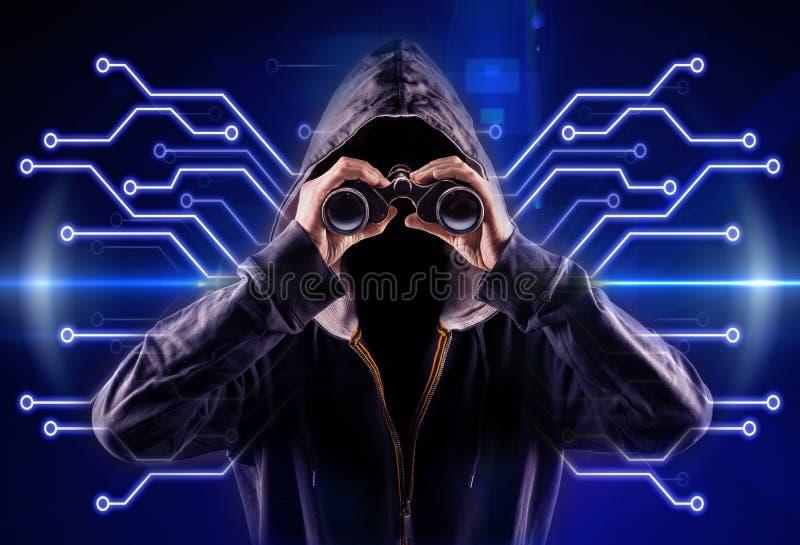 hacker fotografia de stock