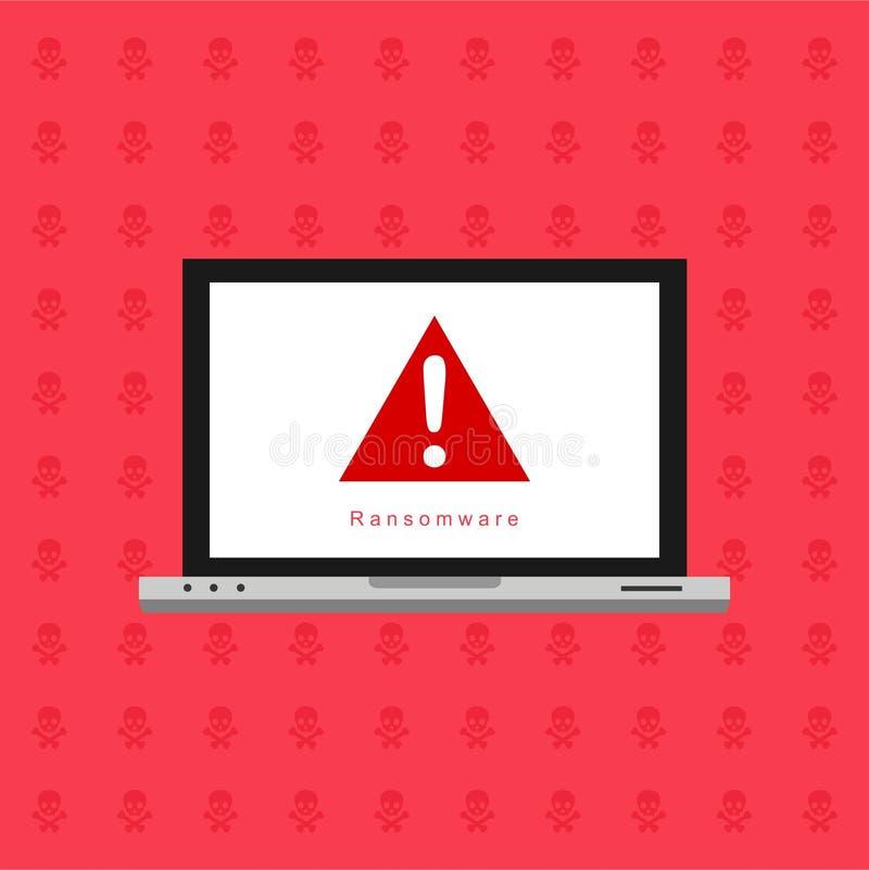 Hacker aktywno?ci komputer Ra?ny powiadomienie na telefonu kom?rkowego wektorze, malware poj?cie, spama dane, oszustwo interneta  royalty ilustracja