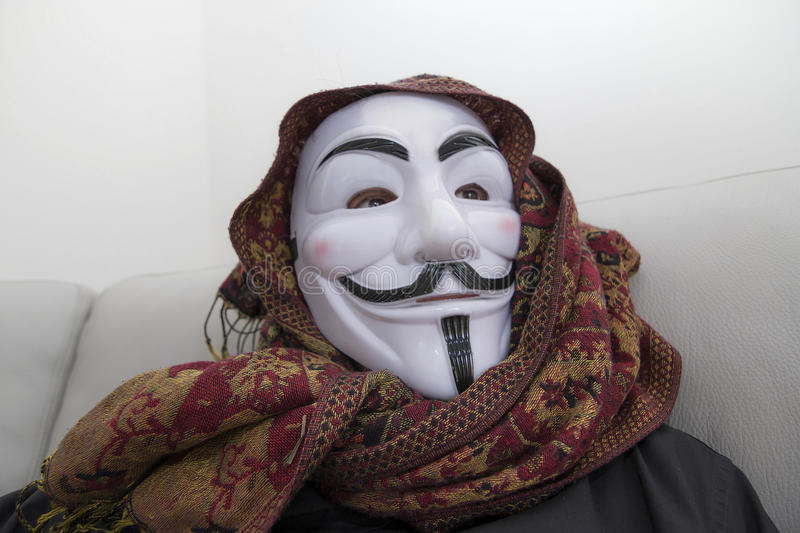 Hacker anonymous masked royalty free stock photography