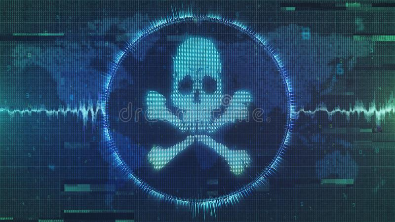 Download Hacker Attack - Cyber Warning Of Interference And Malware - Grungy And Distorted Image Stock Illustration - Illustration of image, antivirus: 107232654