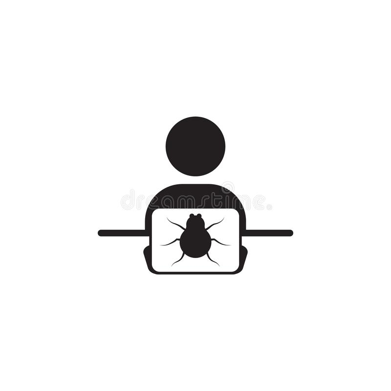 Hacker With A Beetle Icon Elements Of Cyber Security Icon Premium
