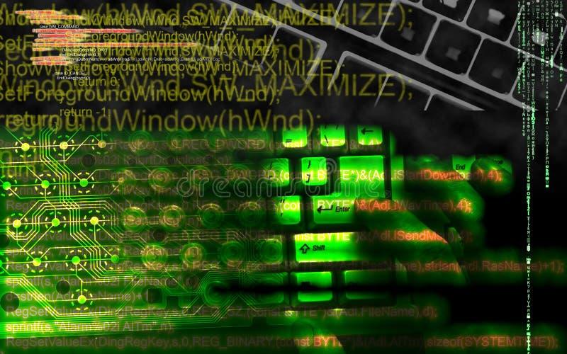 Hacker bei der Arbeit lizenzfreies stockfoto