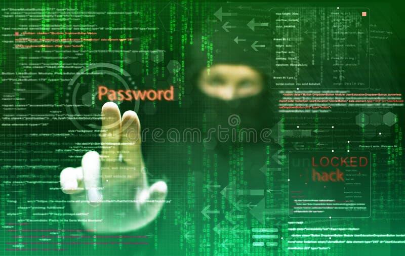Hacker bei der Arbeit lizenzfreie stockfotografie