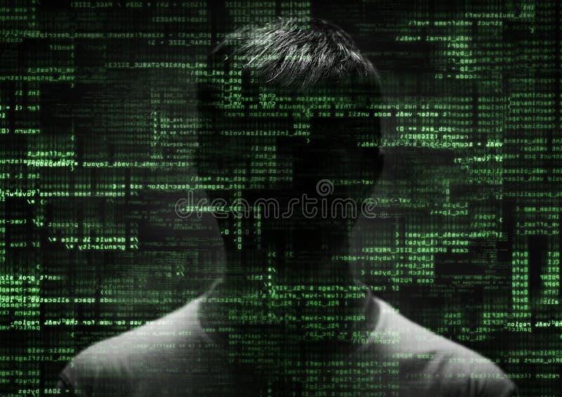 Hacker bei der Arbeit stockfotos