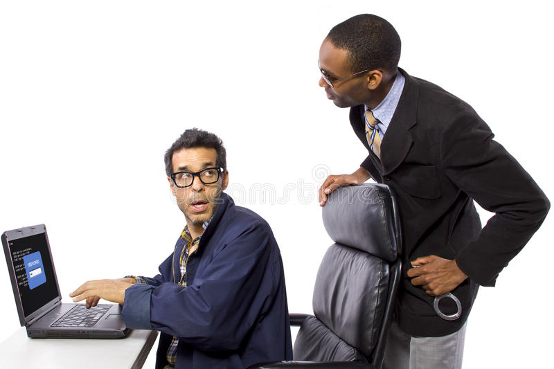 Hacker Busted stock photography
