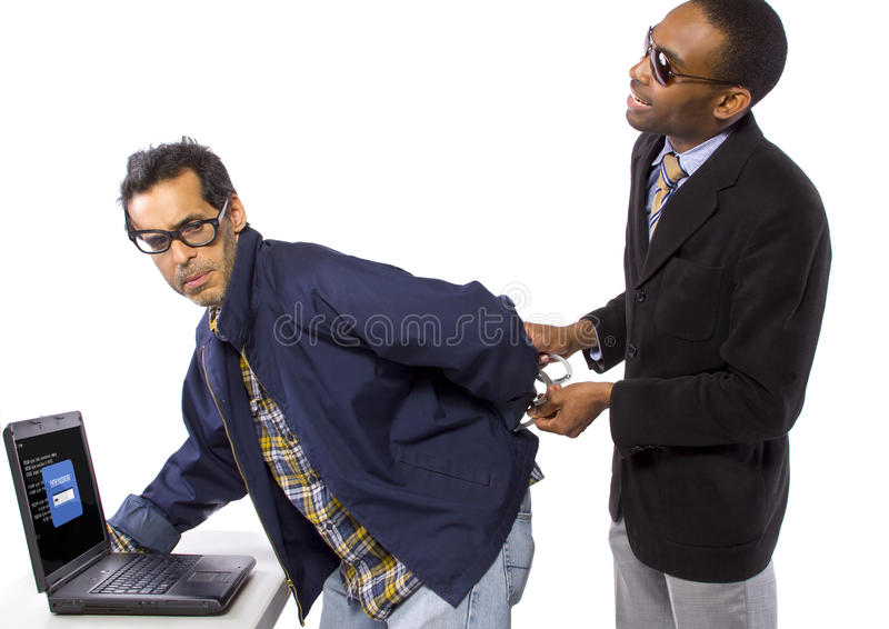 Hacker Busted stock images